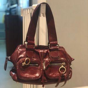 Auth Chloe Patent Leather handbag purse GentlyUsed